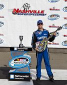 LEBANON, TN - APRIL 23  Carl Edwards (60) wins the Nashville 300 race at the Nashville Superspeedway
