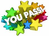 You Pass Test Approved Good Score Accepted Stars 3d Animation poster