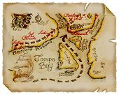 stock photo of treasure map  - Old Paper - JPG