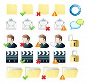 professional icon set web and mail