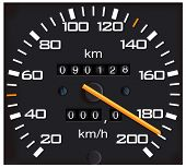 stock photo of mph  - vector detailed speedometer - JPG