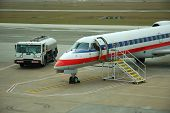picture of bowser  - Small Regional Jet parking at the Airport - JPG