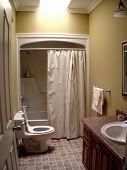 Interior of small bathroom