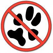 No Symbol With Paw Print