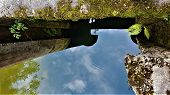 Water Sky Reflection, Awesome View, Summer Sunshine poster