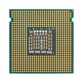 Computer CPU isolated on white background