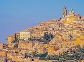 Scenic View Of Trevi Historical Center, Typical Mediaeval Village In Umbria, Italy poster