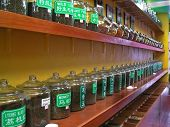 image of flower shop  - chinese tea shop in chinatown - JPG