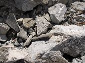 Cement Rock Rubble