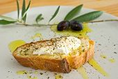Bread, Ricotta, Oil And Olive Oil