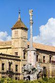 Triunfo de San Rafael y el Palacio Episcopal