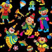 Circus seamless pattern.