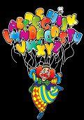 Clown with alphabet.