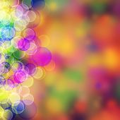 Abstract Color Backgrounds With Beauty Bokeh