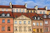picture of tenement  - Warsaw Poland - JPG