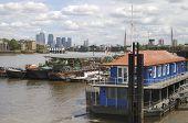 Canary Wharf From Southwark. England