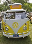Yellow & White 1966 Vw Camper