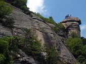 foto of gneiss  - View from near the entrance of Chimney Rock S - JPG