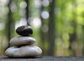 Zen Peace Rocks in Nature Forest