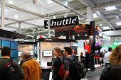 Hannover - March 10: Stand Of Shuttle On March 10, 2012 At Cebit Computer Expo, Hannover, Germany. C