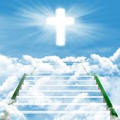 stock photo of stairway to heaven  - Christianity concept - JPG