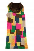 Colorful Sequins Cowl Neck Dress