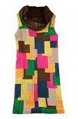 Colorful Sequins Cowl Neck Dress