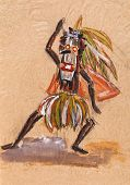 picture of witch-doctor  - historical clothes  - JPG