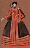 picture of courtier  - historical costume  - JPG
