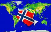Fist In Color  National Flag Of Norway    Punching World Map