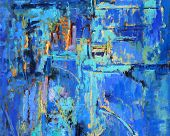 Pintura abstracta en Blues