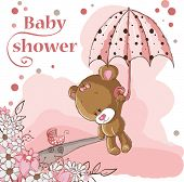 girl bear and umbrella