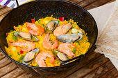Paella -traditional spanish dish