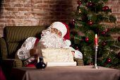 Santa Claus Sleep With List