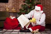 Santa Claus Checks His List