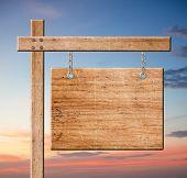 Wood Sign.