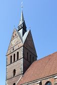 Bell tower of Market Church in Hanover, Germany