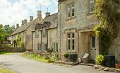 stock photo of hamlet  - Aldsworth is a village and civil parish in the Cotswold district of Gloucestershire - JPG