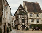 Centre place in Noyers,Yonne, France