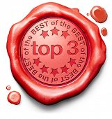 pic of prize winner  - top 3 charts list pop poll result and award winners chart ranking music hits best top quality rating prize winner icon red wax seal stamp - JPG