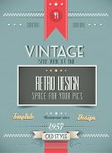 Old Style Vintage Menu of the Day background template. Ideal for your daily specialities or for broc