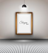 picture of spotlight  - Modern interior art gallery frame design with spotlights - JPG