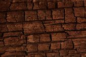 stock photo of dingy  - old cracked wooden surface background - JPG