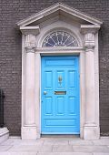 Blue Georgian Door
