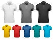 stock photo of apparel  - Black and white and color men t - JPG