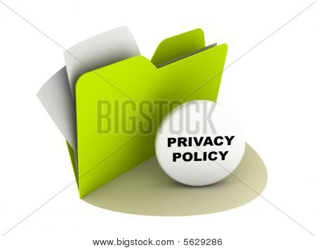 Постер, плакат: Кнопка политики конфиденциальности, холст на подрамнике