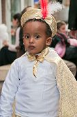 Jerusalem, Israel - March 15: Purim Carnival,portrait Of An Unidentified Ethiopian Little Boy