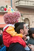 JERUSALEM - MARCH 15: Purim carnival March 15, 2006 in Jerusalem.