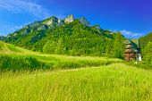 image of pieniny  - Old shelter near The Three Crowns Massif in The Pieniny Mountains - JPG