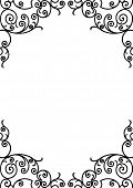 wrought iron frame (vector)